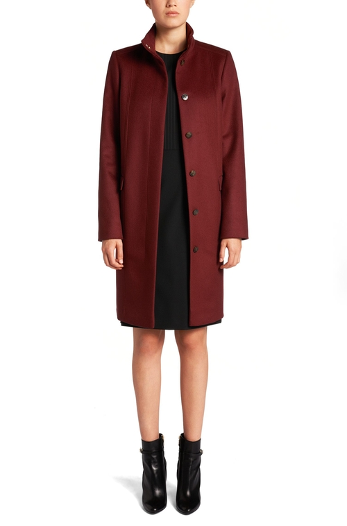 Carila Cashmere Virgin Wool Car Coat by Boss Hugo Boss in The Good Wife - Season 7 Episode 9