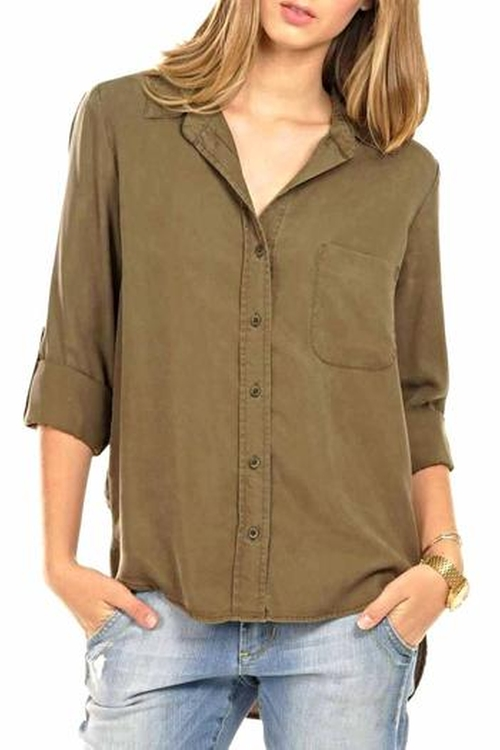 Chambray Shirt by Velvet Heart in Keeping Up With The Kardashians - Season 11 Episode 8