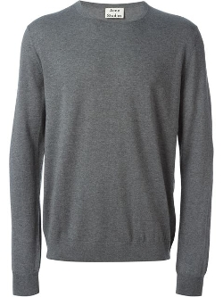 Crew Neck Sweater by Acne Studios in Twilight