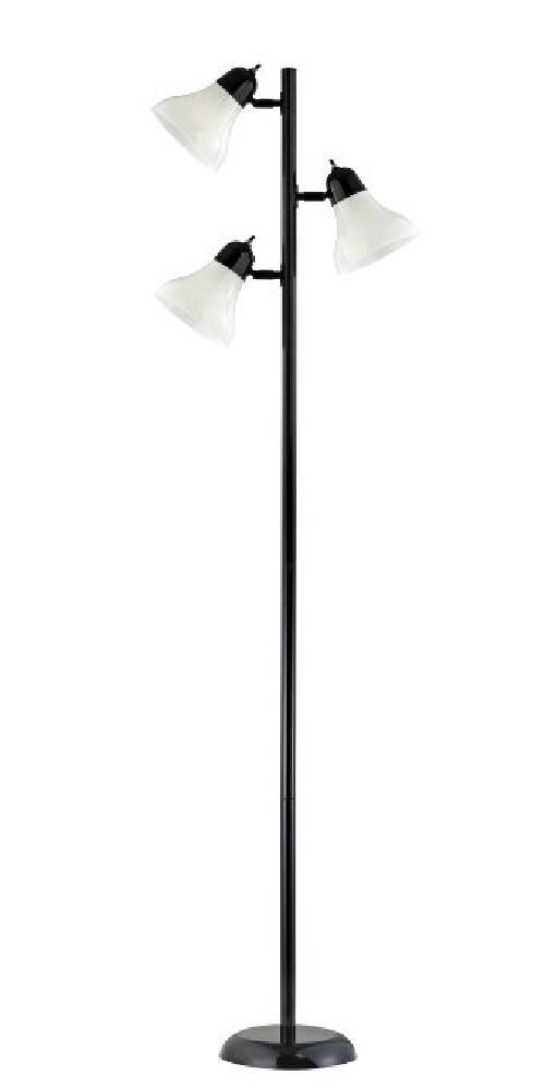 Contemporary Tree Floor Lamp with Three Adjustable Lights, Black by Design Trends in Million Dollar Arm