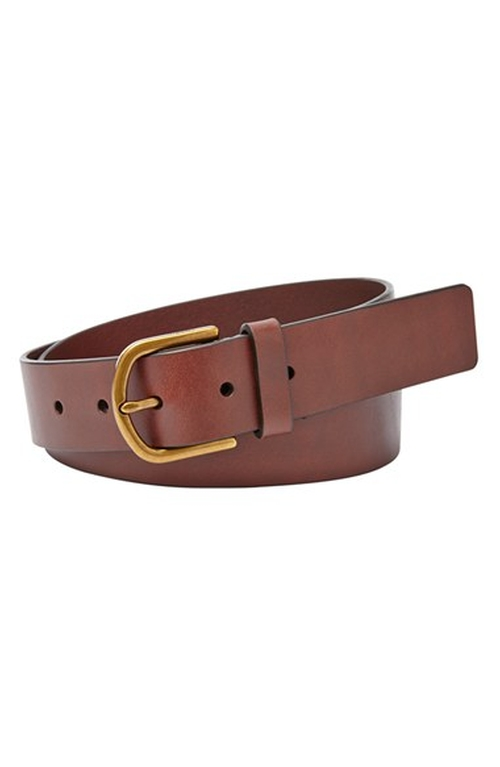 'Modern C Buckle' Leather Belt by Fossil in Scream Queens