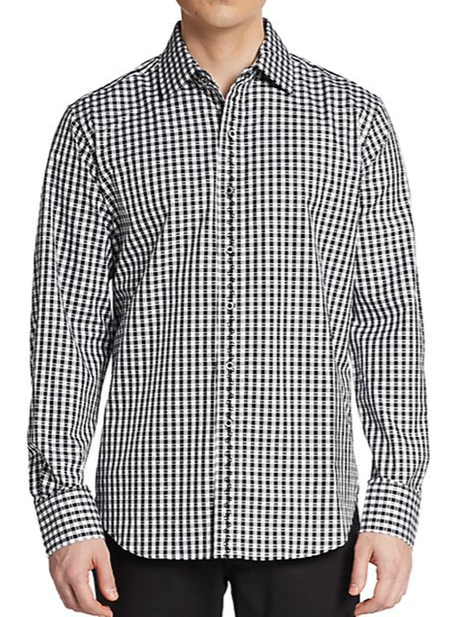 Classic-Fit Check Cotton Sportshirt by Robert Graham in Sleeping with Other People