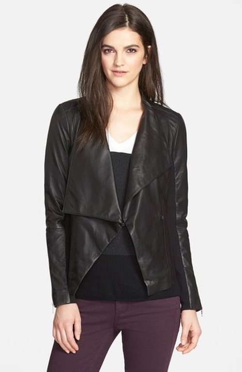 Drape Collar Leather Jacket by Trouvé in The Bachelorette - Season 12 Looks