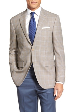 'Flynn' Classic Fit Windowpane Wool Sport Coat  by Peter Millar in The Night Manager