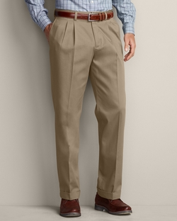 Pleated Performance Dress Pants by Eddie Bauer in Daddy's Home