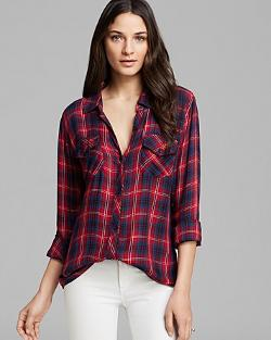 Two Pocket Plaid Shirt by Rails in The Purge: Anarchy