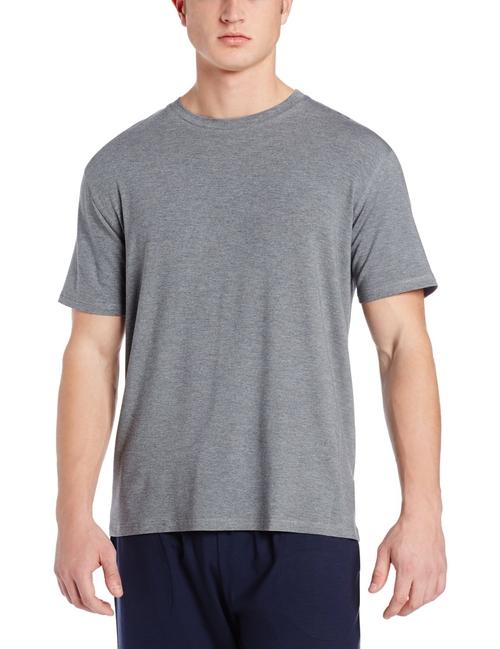 Men's Crew Neck Knit Lounge Tee Shirt by Derek Rose in Clueless