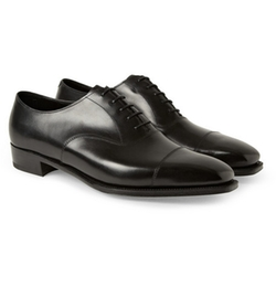 Anthony Bodie Leather Oxford Shoes by George Cleverley in Suits