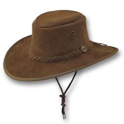 Wide Brim Suede Leather Hat by Barmah Hats in Couple's Retreat