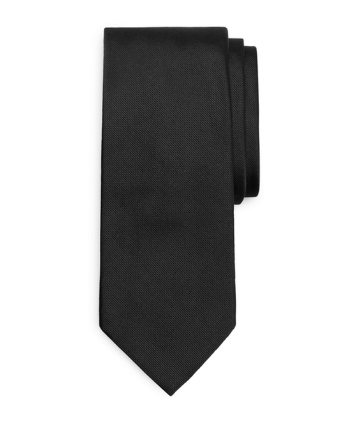 Solid Repp Tie by Brooks Brothers in Demolition