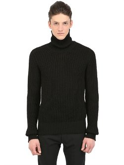 Turtleneck Chunky Wool Sweater by Rick Owens in Sherlock Holmes: A Game of Shadows