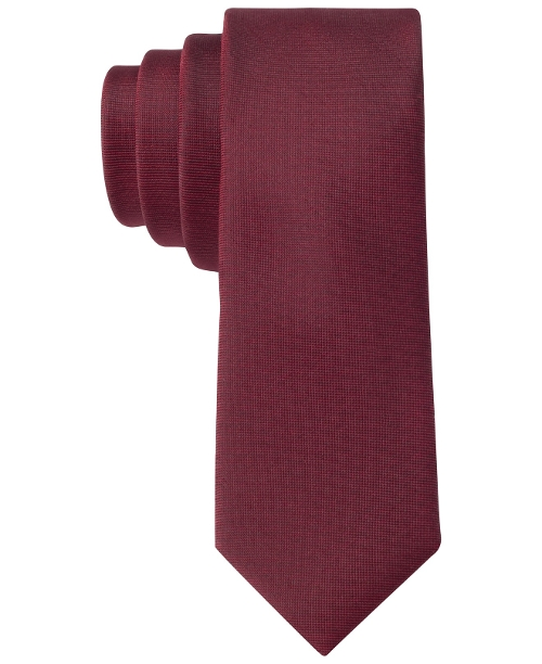 X Liquid Luxe Skinny Solid Tie by Calvin Klein in Absolutely Anything