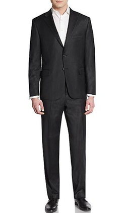 Pinstripe Worsted Wool Suit by Hickey Freeman in Ocean's Eleven