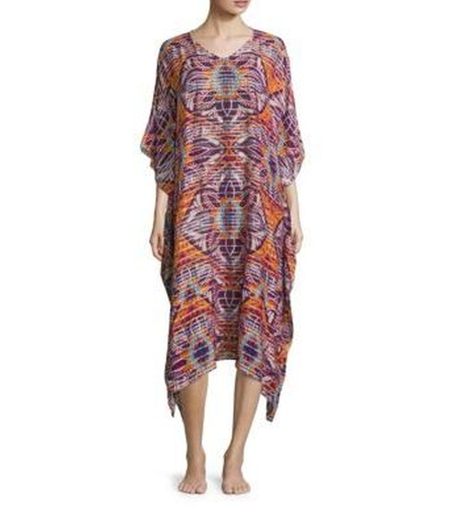 Oasis Silk Blend Caftan by Jules Smith in Grace and Frankie - Season 2 Episode 9