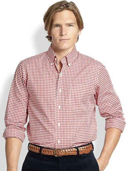Checked Poplin Mercer Sportshirt by Polo Ralph Lauren in Pitch Perfect 2