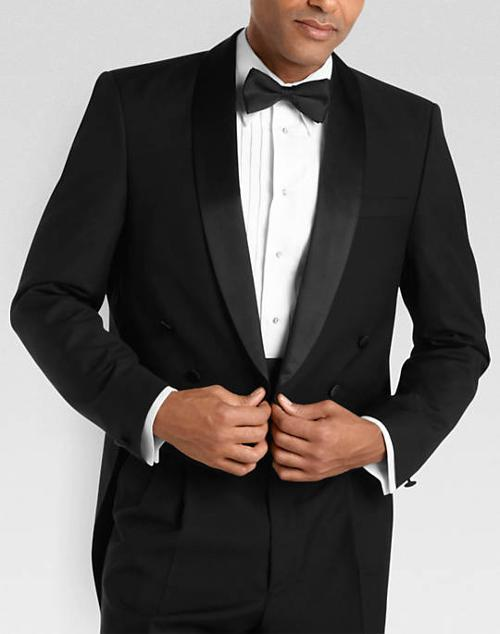 Versini Black Tailcoat Modern Fit Tuxedo by Mens Wearhouse in Hot Tub Time Machine 2