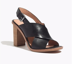 The Jamie Crisscross Slingback Sandal by Madewell in The Boss