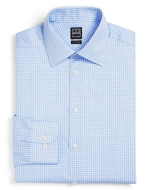 Gingham Dress Shirt by Ike Behar in Ballers