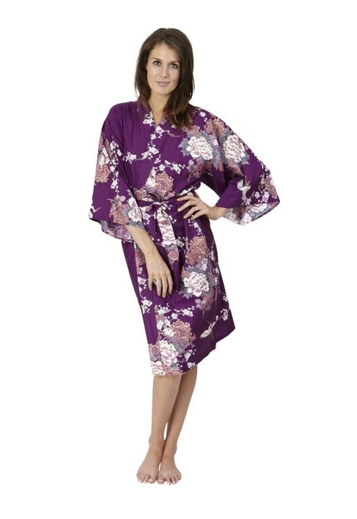 Flying Crane & Peony Kimono Robe by Beautiful Robes in Chelsea - Season 1 Episode 4