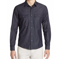 Barham Turini Denim Sportshirt by Theory in Shadowhunters