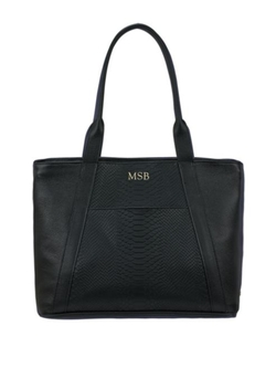 Embossed Pebble Grain Leather Tote by GiGi New York in The Good Wife