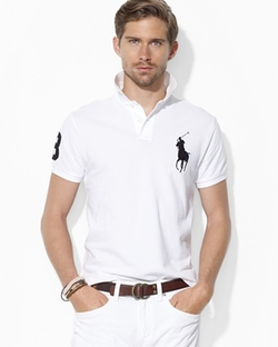 Custom Big Pony Mesh Polo Shirt by Polo Ralph Lauren in Scream Queens