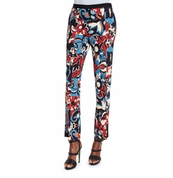 Floral-Print Flared Pants by Etro in The Boss