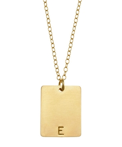 Jewelry Rectangle Initial Tag Necklace by Anna Bee in Jem and the Holograms