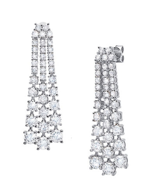 On The Red Carpet Silver And Platinum Tassel Earrings by Crislu in Scarface