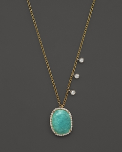 Amazonite Pendant Necklace by Meira T in How To Get Away With Murder