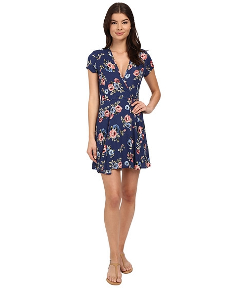 Charlotte Floral Wrap Dress by Brigitte Bailey  in The Great Indoors - Season 1 Preview
