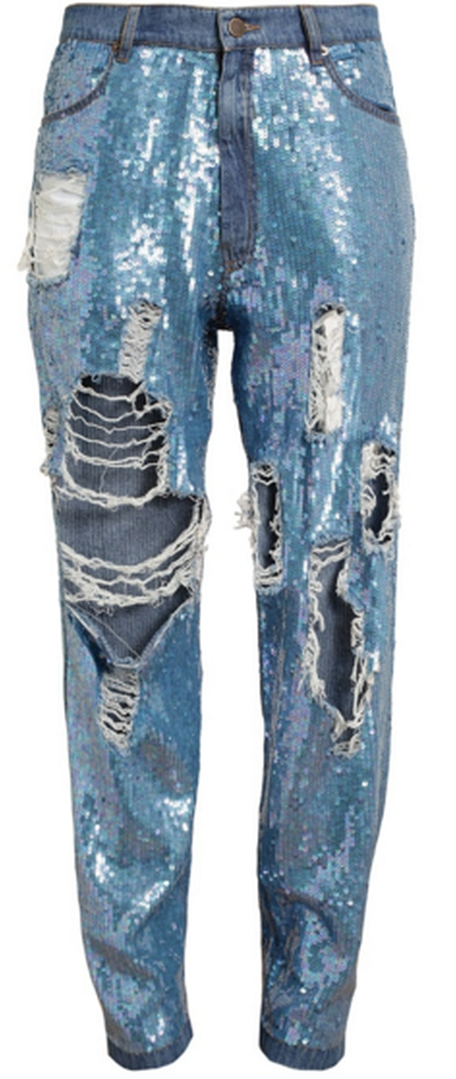 Distressed Sequin Denim Jeans by Ashish in Empire - Season 2 Episode 7