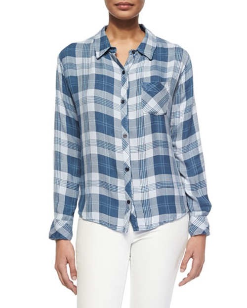 Hunter Long-Sleeve Plaid Shirt by Rails in Mean Girls