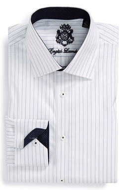 Trim Fit Stripe Dress Shirt by English Laundry in Boyhood