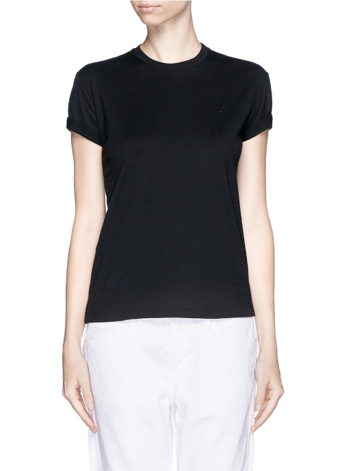 Roll Cuff Cotton T-Shirt by T By Alexander Wang in Thor: The Dark World