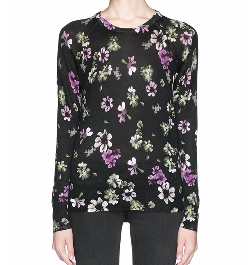 'Sloane' Floral Print Silk-Cashmere Sweater by Equipment in How To Get Away With Murder - Season 3 Episode 2
