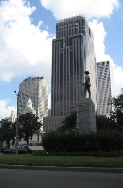 New Orleans, Louisiana by First Bank and Trust Tower in Focus