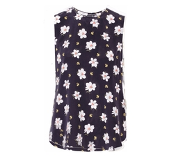Lyle Floral-Print Washed-Silk Top by Equipment in Lady Dynamite