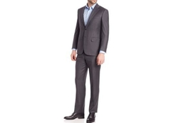 Wool Two Button-Front Suit by Canali in Suits