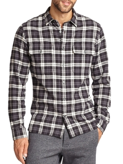 Cotton Check Sportshirt by Vince in Silicon Valley