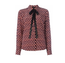 Crêpe De Chine Bow Shirt by Marc Jacobs in The Commuter
