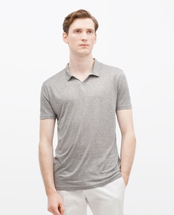 V Neck Polo Shirt by Zara in Ballers