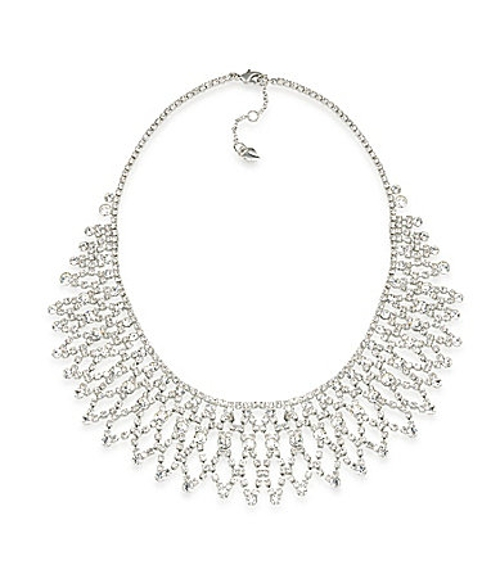 Crystal Stems Dramatic Frontal Necklace by Carolee in Adult Beginners