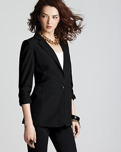Shirred Sleeve Blazer by Michael Kors in Ouija