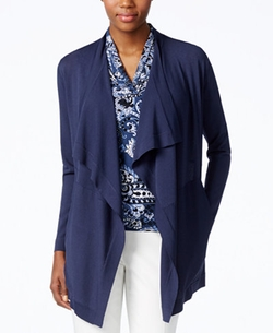 Draped Open Cardigan by Anne Klein in Suits