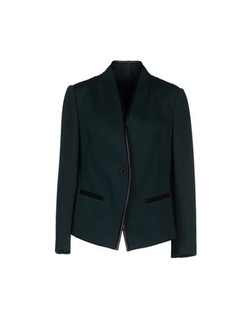 Collarless Blazer by Pinko Black in The Good Wife - Season 7 Episode 10