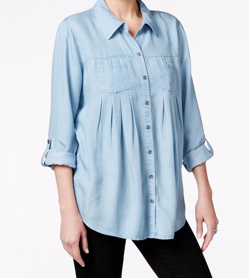 Denim Tab-Sleeve Shirt by Style & Co. in Kong: Skull Island