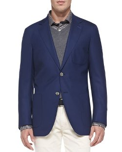 Travel Wool Blazer by Peter Millar in Begin Again