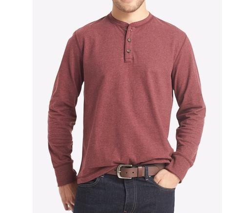 Men's Long-Sleeve Henley Shirt by G.H. Bass & Co. in Pretty Little Liars - Season 7 Episode 7