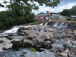 Shelburne Falls, Massachusetts (depicted as Carlinville, Indiana) by Deerfield River Reservoir in The Judge